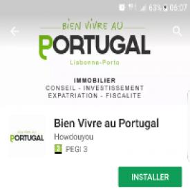 Bien vivre au Portugal now available on Google Play