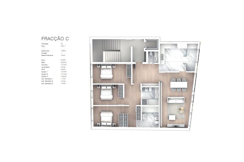Projet approuvé pour un immeuble d'habitation et commerces - São Brás Residences - Porto / Paranhos | BVP-CD-1001 | 11 | Bien vivre au Portugal
