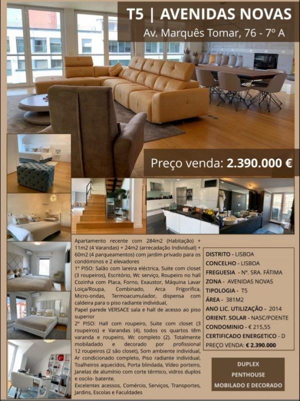 Duplex T5 - Avenidas Novas / Lisbonne | BVP-TD-934 | 36 | Bien vivre au Portugal