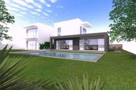 <p class= annonceFrom >Lisbonne immobilier</p>   Maison cubique T4 neufavec piscine - Alcabideche / Murches